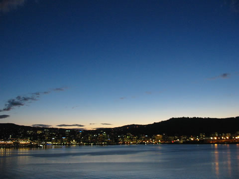Dusk in Wellington
